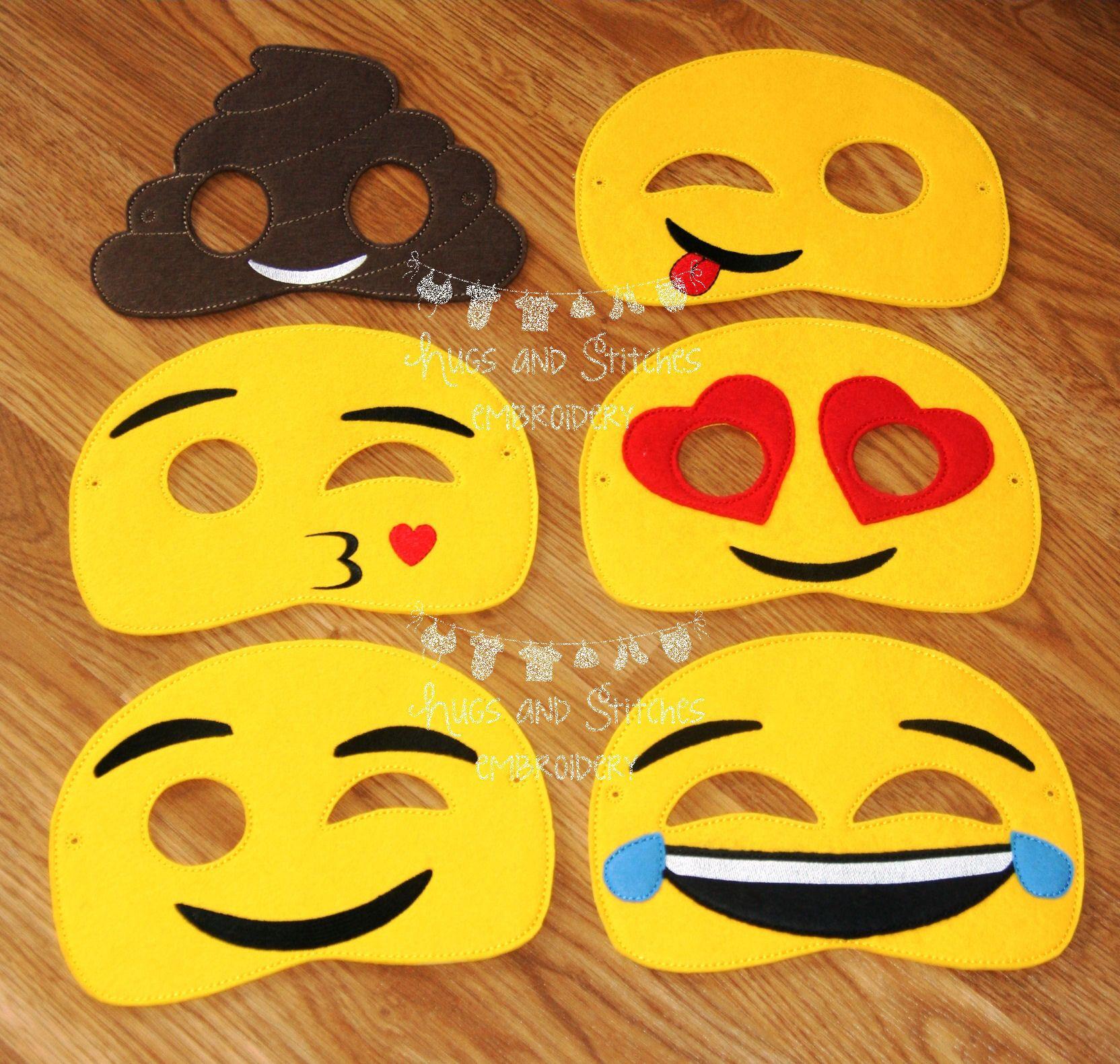 Emoji Inspired Masks Emotions Masks Mobile Phone Emoji Etsy In 2020 Emoji Party Emoji Craft Emoji Party Decorations