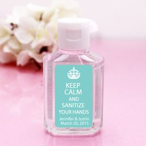 Hand Sanitizer With Little Tule Veils For Bridal Shower Favors So