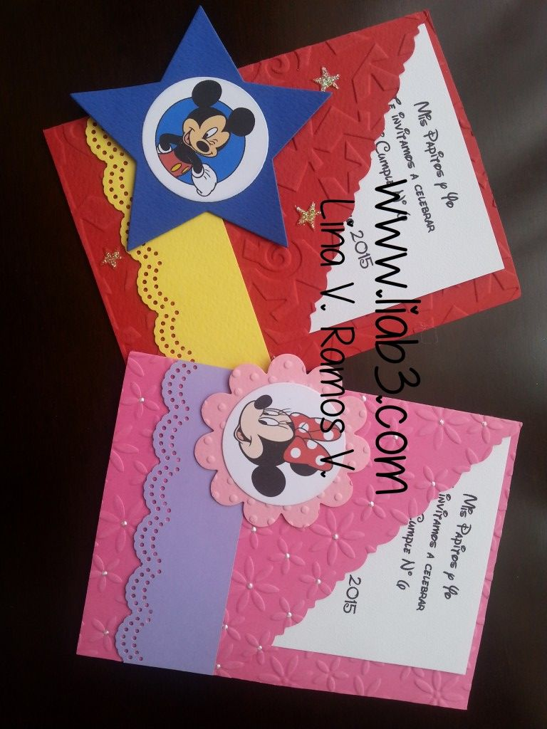 Mickey Minnie 06 Invitaciones Mickey Invitaciones De