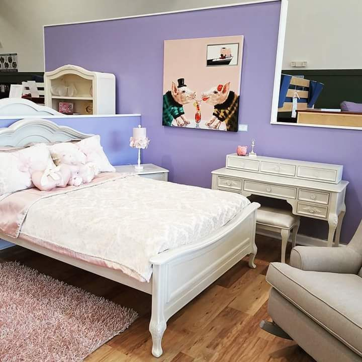 Captivating Purple Theme Basic Room For Teenage Girls