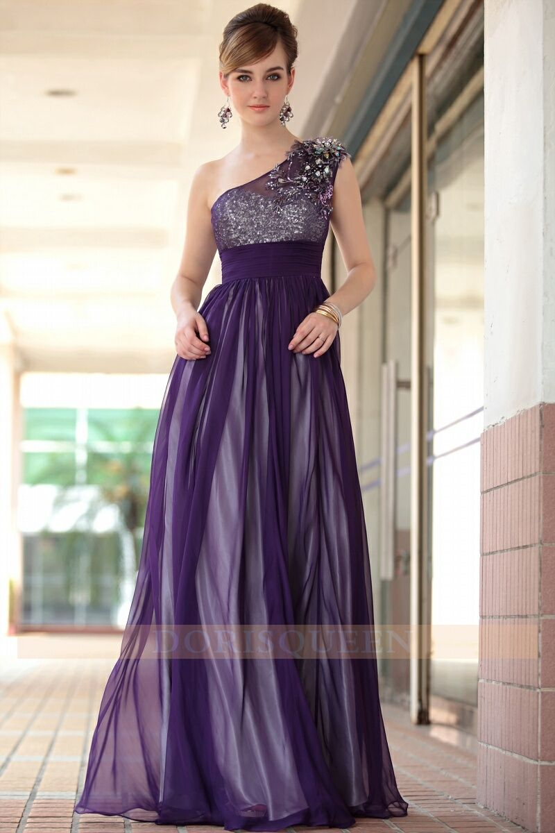 Dark purple sexy one shoulder long prom dresses 2014 dorisqueen dark purple sexy one shoulder long prom dresses 2014 bridesmaid ombrellifo Image collections