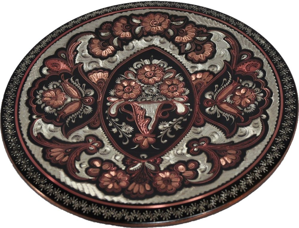 copper decorative accessories | Handcrafted Copper Decorative Hanging Wall Plate Turkish Artisan Hand ...