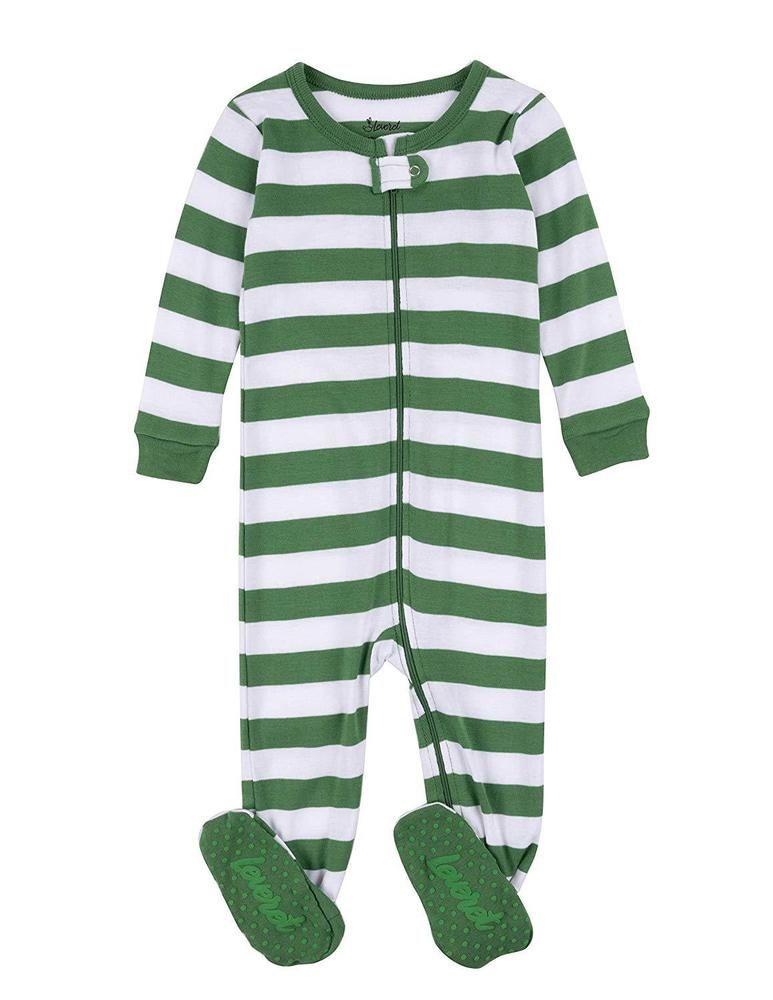 50ba4fa520f4 Leveret Striped Baby Boys Girls Footed Pajamas Sleeper 100% Cotton ...