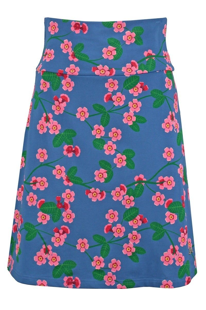 636ac25162f Tante Betsy Skirt Cherry Blossom print light blue licht blauw kersen  bloesem print rok