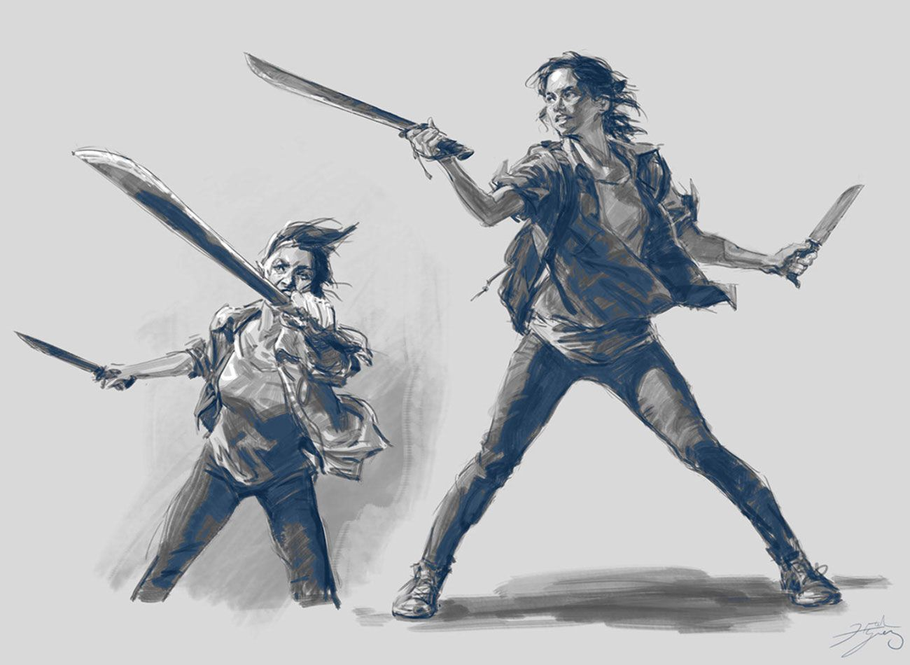 Ellie Combat Art from The Last of Us Part II #art #artwork #videogames #gameart #conceptart #illustration #thelastofuspart2 #thelastofuspartii #lastofuspart2 #lastofuspartii