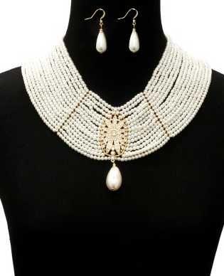 Designzbymsj...Celebrate pearl & rhinestones  statement necklace $50 We accept PayPal Email us @ designzbymsj@aol.com