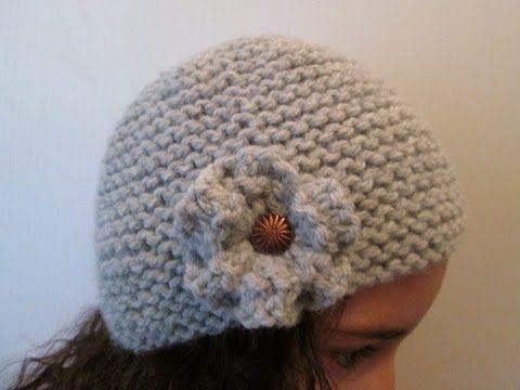 comment faire une fleur en tricot facile