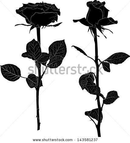 Rose Silhouette Images Rose Silhouette Stock Photos Illustrations And Vector Art Silhouette Images Black Rose Tattoos Silhouette Tattoos