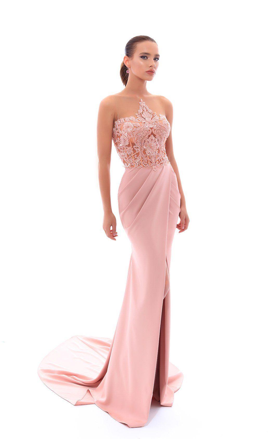 Breathtaking wrap skirt Halter Gown by Tarik EdizBring elegance d0bc878b5c37