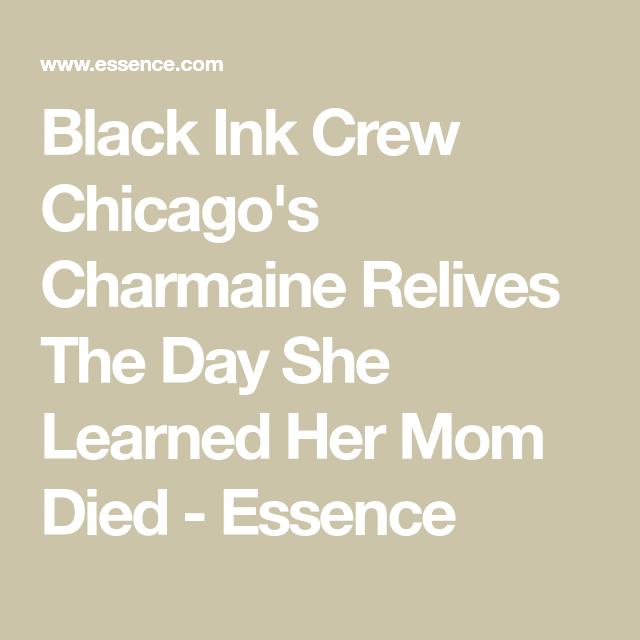 charmaine black ink mom died