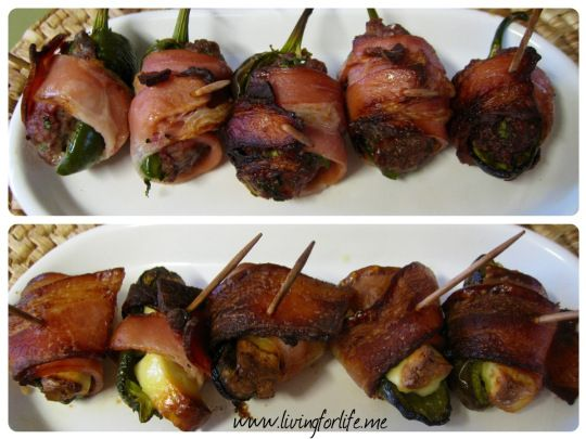 Delicious jalepanos and bacon – Living for life