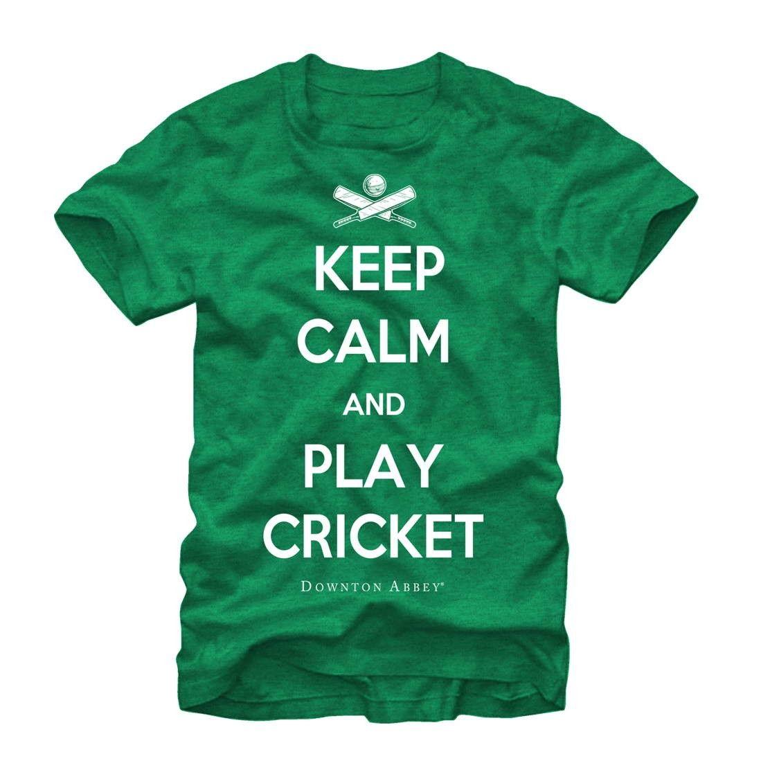 Downton Abbey Men's - Keep Calm and Play Cricket T Shirt #downton #downtonabbey #pbs