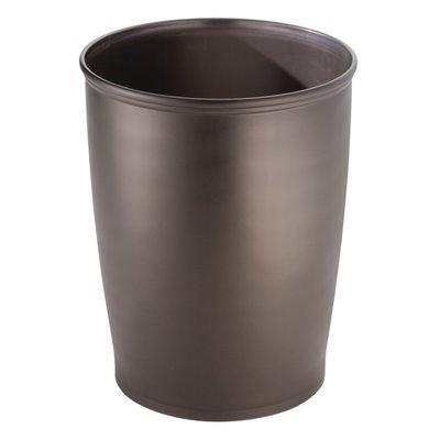Trash Can for Bathroom Bedroom InterDesign Kent Oval Waste Office-Set of 2