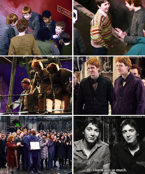 Last greetings from James and Oliver Phelps, Harry Potter and the Deathly Hallows