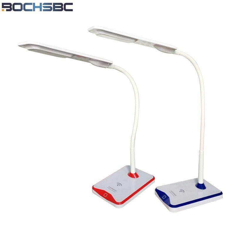 Bochsbc Led Charger Desk Lamp For Bedroom Living Room Wireless Charging Table Lights For Iphone X 8 8plus Samsung Ga Light Table Desk Lamp Wireless Night Light #wireless #lamps #for #living #room