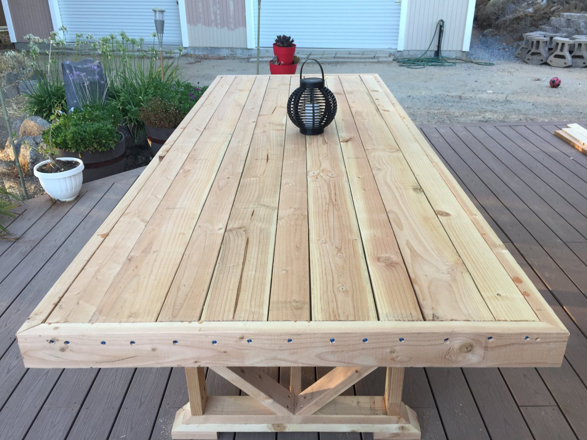 DIY Large Outdoor Dining Table Outdoor dining, Wooden