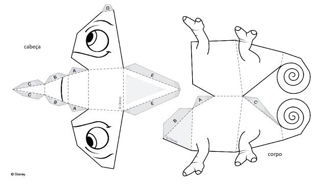 SOS PROFESSOR-ATIVIDADES: Camaleão Pascoal em 3D - Filme Enrolados