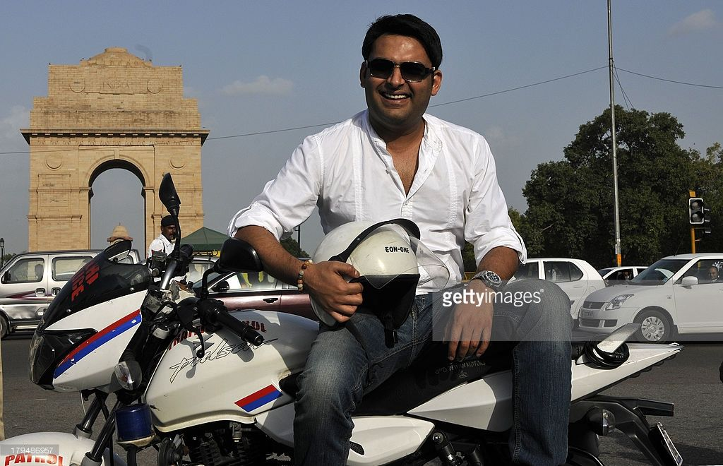 Comedian and TV Actor Kapil Sharma participates in a road