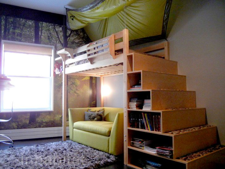 9 sexy storage solutions for small spaces tiny - Small beds for adults ...