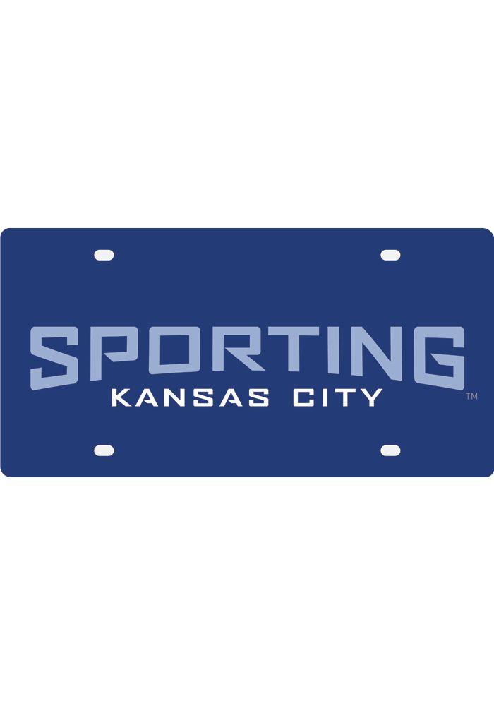 Sporting Kansas City Dark Blue Wordmark License Plate Httpwww - Sporting kc car decals