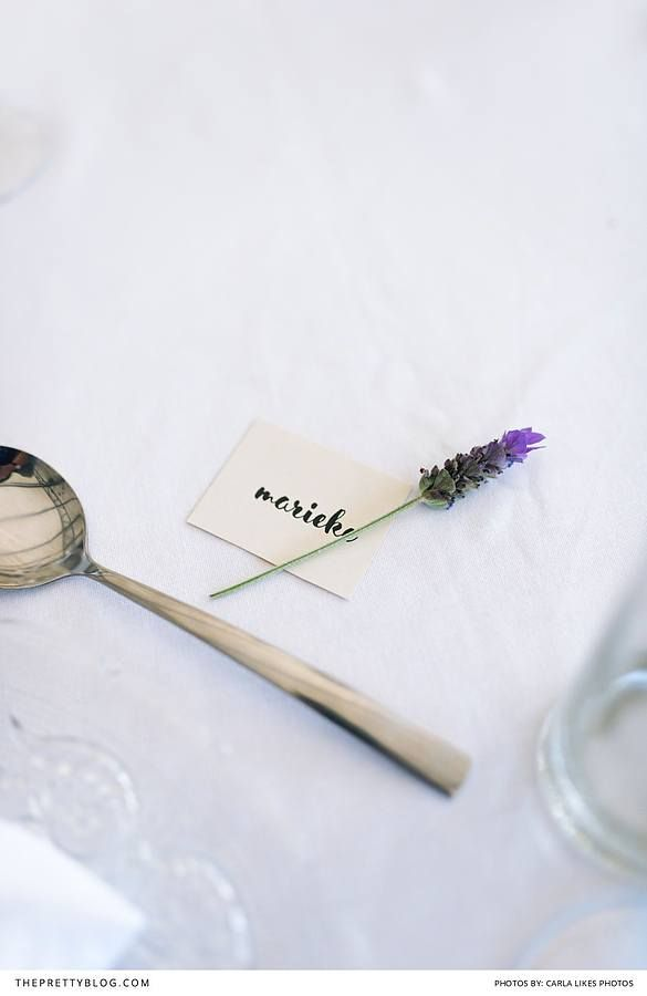 Name cards and lavender   Photographers: Carla Likes Photos   Decor & Hire: Exclusive Hire   Wedding Venues: Cassia Restaurant at Nitida Wine Farm   Wedding Dresses & Bridal Fashion: Urban Bride   Stationery and Invitations: Secret Diary  