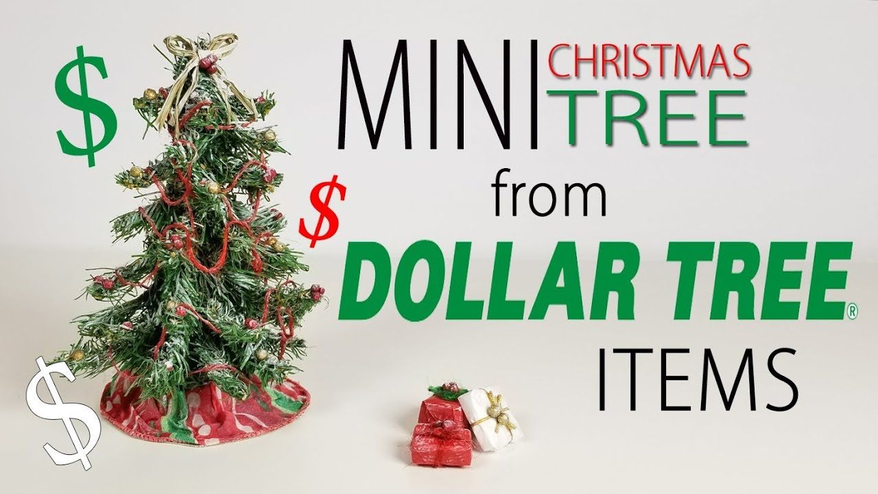 Tutorial Miniature Christmas Tree From Dollar Tree Items Dollhouse Christmas Miniature Christmas Trees Dollar Stores
