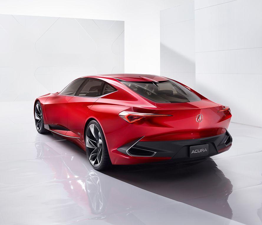 Acura Future Vehicles Precision Concept Alluring Modern Edge Rear
