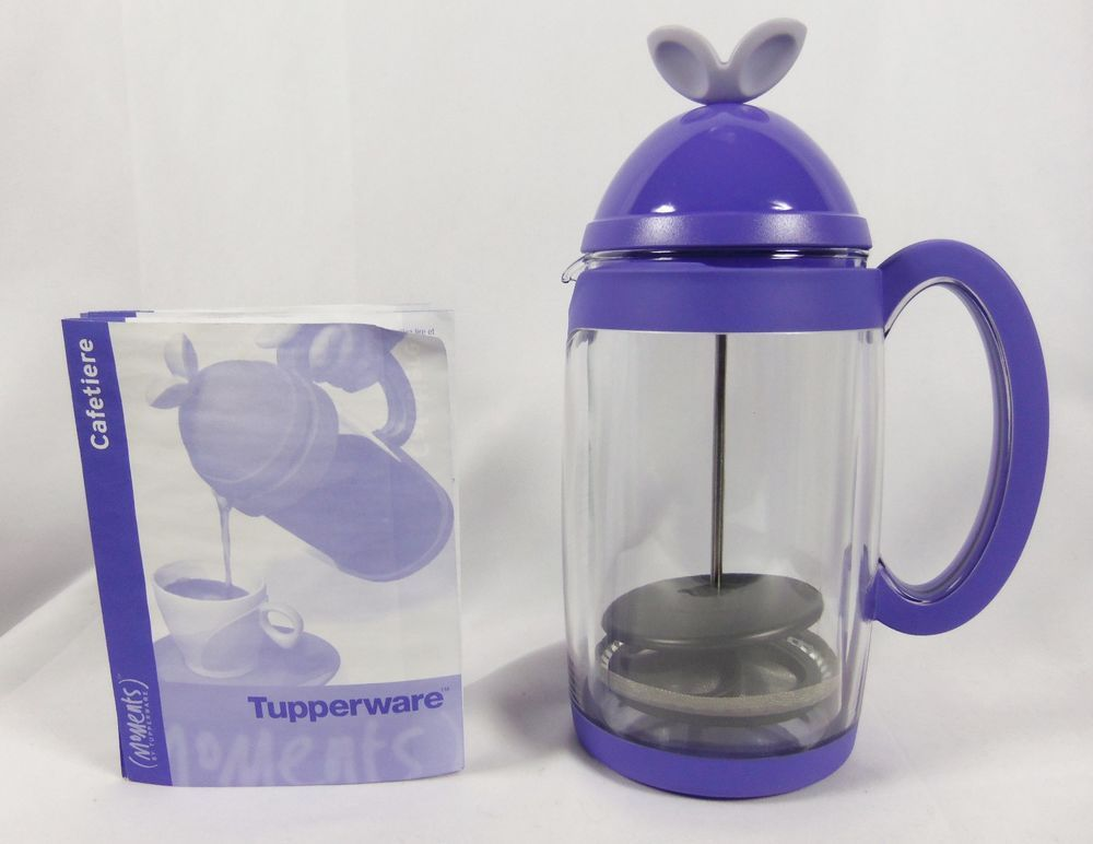 Tupper Küchenchef ~ New tupperware moments cafetiere french press coffee maker purple