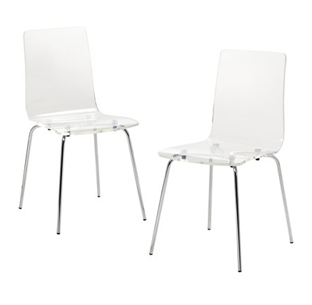 Superb Set Of 2 Acrylic Chairs   Target.