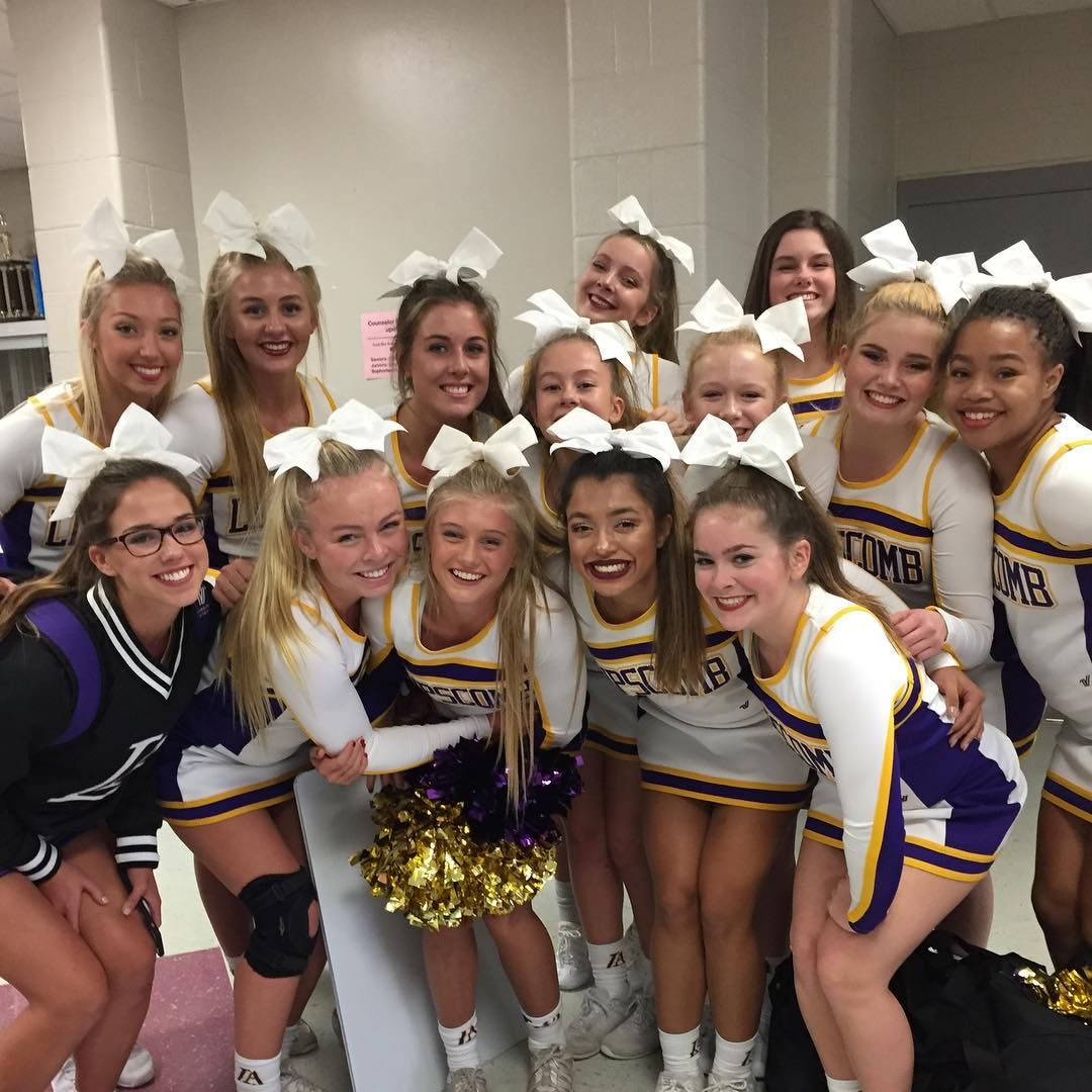 Lahs cheer competition squad in action at tennessee
