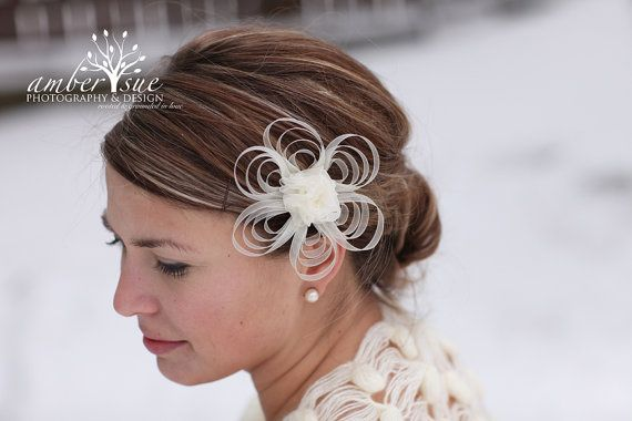Bridal Hair Flower - Ivory Bridal Hair Clip - Ivory Flowers and Pearls Hair Pin for Brides - Bridesmaids, ready to ship on Etsy, $23.00
