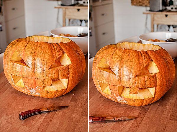 Cómo Decorar Una Calabaza De Halloween Blog De Recetas De Repostería Calabazas De Halloween Calabazas Talladas Halloween