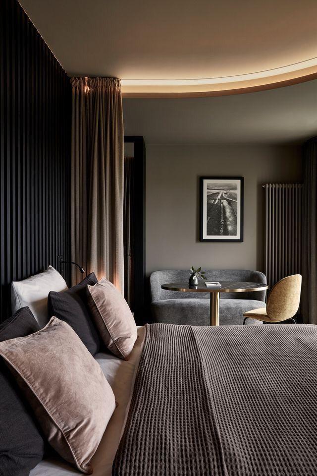 Une chambre chaleureuse chambre décoration noir black tendance