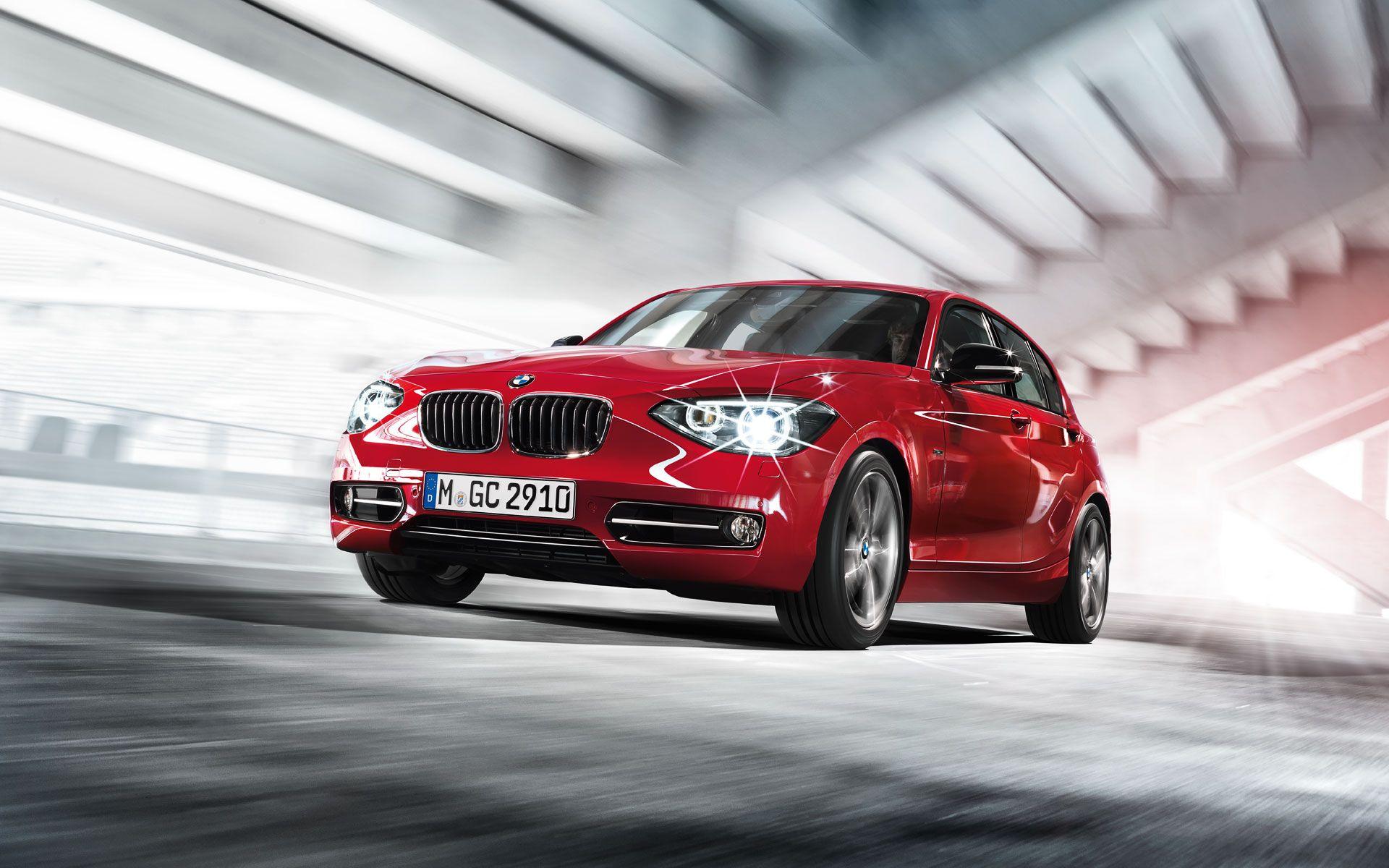 2013 BMW 1 Series Hatchback, red car, wallpaper, front