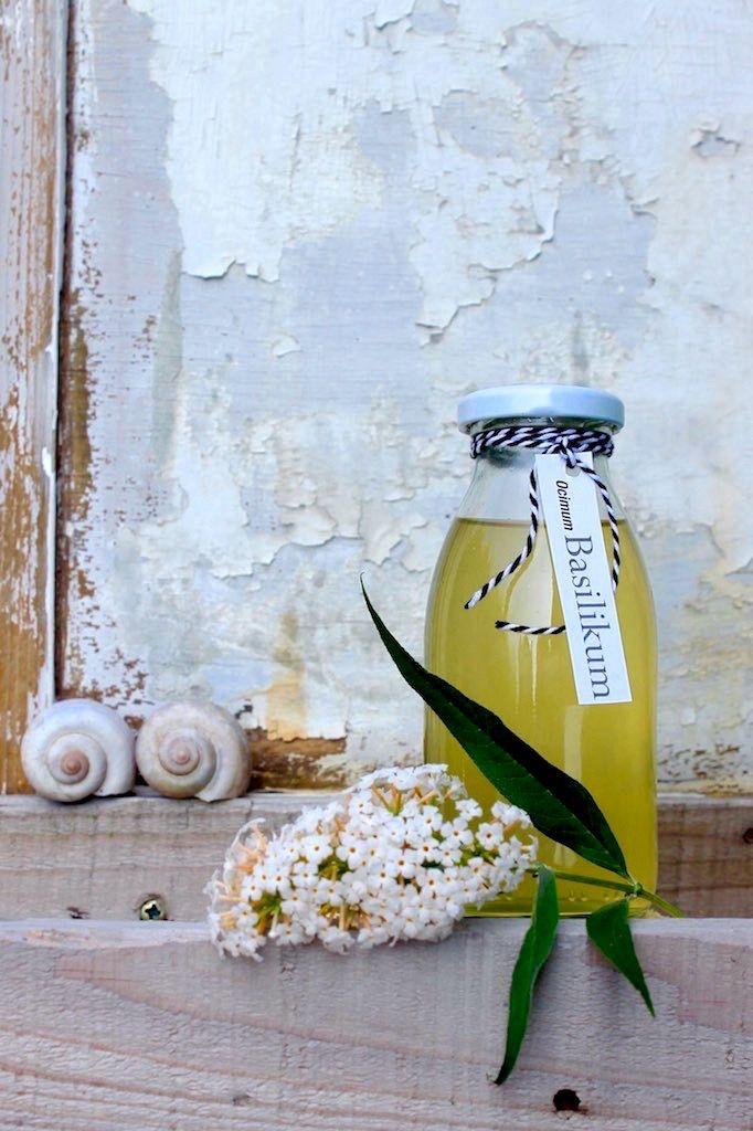 Aroma für den Prosecco: Basilikum Sirup