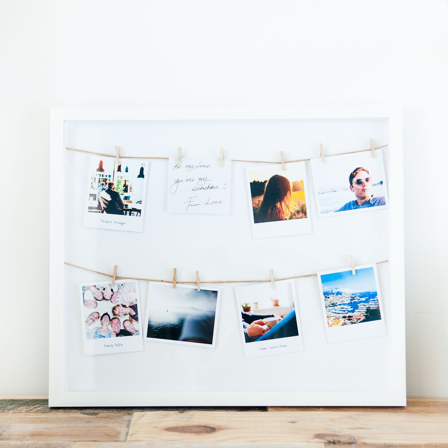 The Umbra clothesline shadow box is a beautiful way to display ...