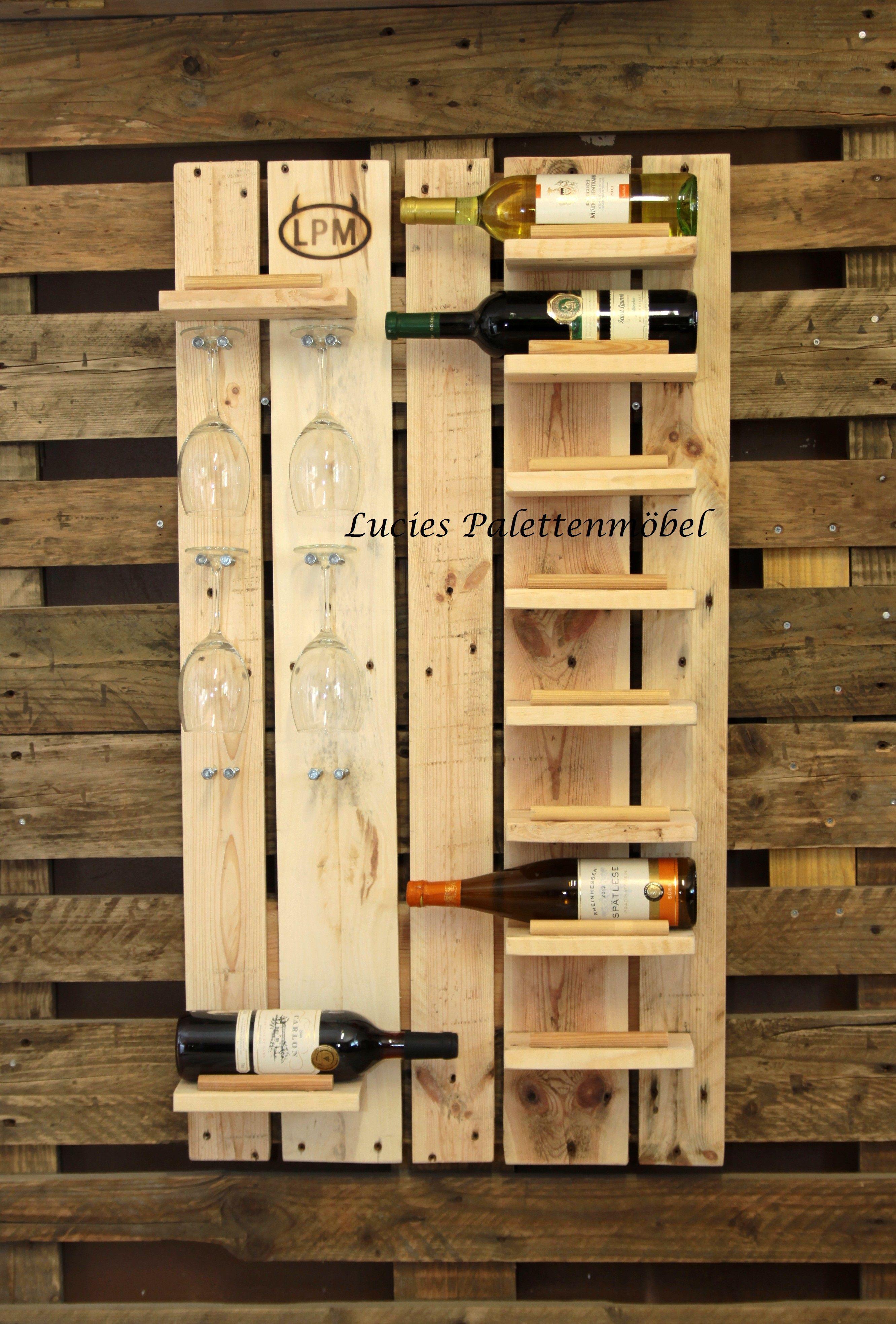 Weinregal aus Palette | pomysły | Pinterest | Wine rack