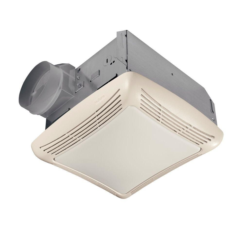 Nutone 50 Cfm Ceiling Bathroom Exhaust Fan With Light 763n Bathroom Fan Light Bathroom Exhaust Fan