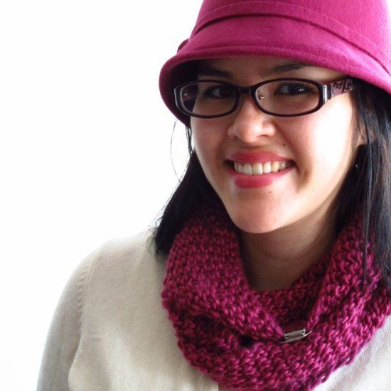 This cowl has a snug fit and is warm enough for the Canadian winter, but is also fancy enough to wear at the office.