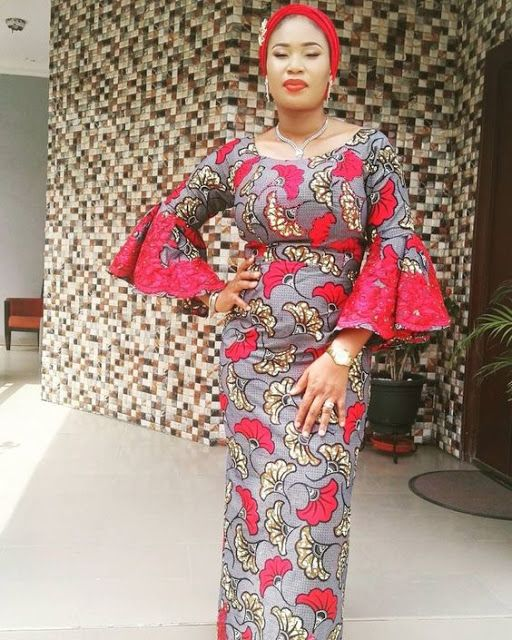 b86b0c860ea51d Online Hub For Fashion Beauty And Health  Lovely Ankara Gown With Turban  For The Pretty Moms.