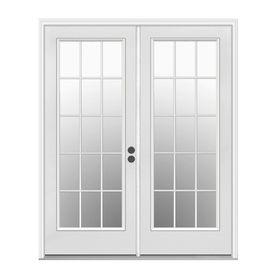 $388.00 ReliaBilt 59.5 In 15 Lite Glass Steel French Inswing Patio Door Pre