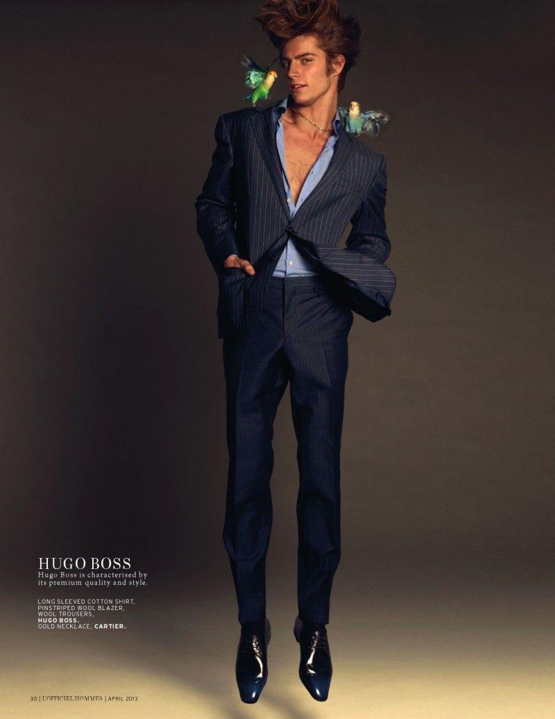 Timothée Bertoni Sports Spring Styles for LOfficiel