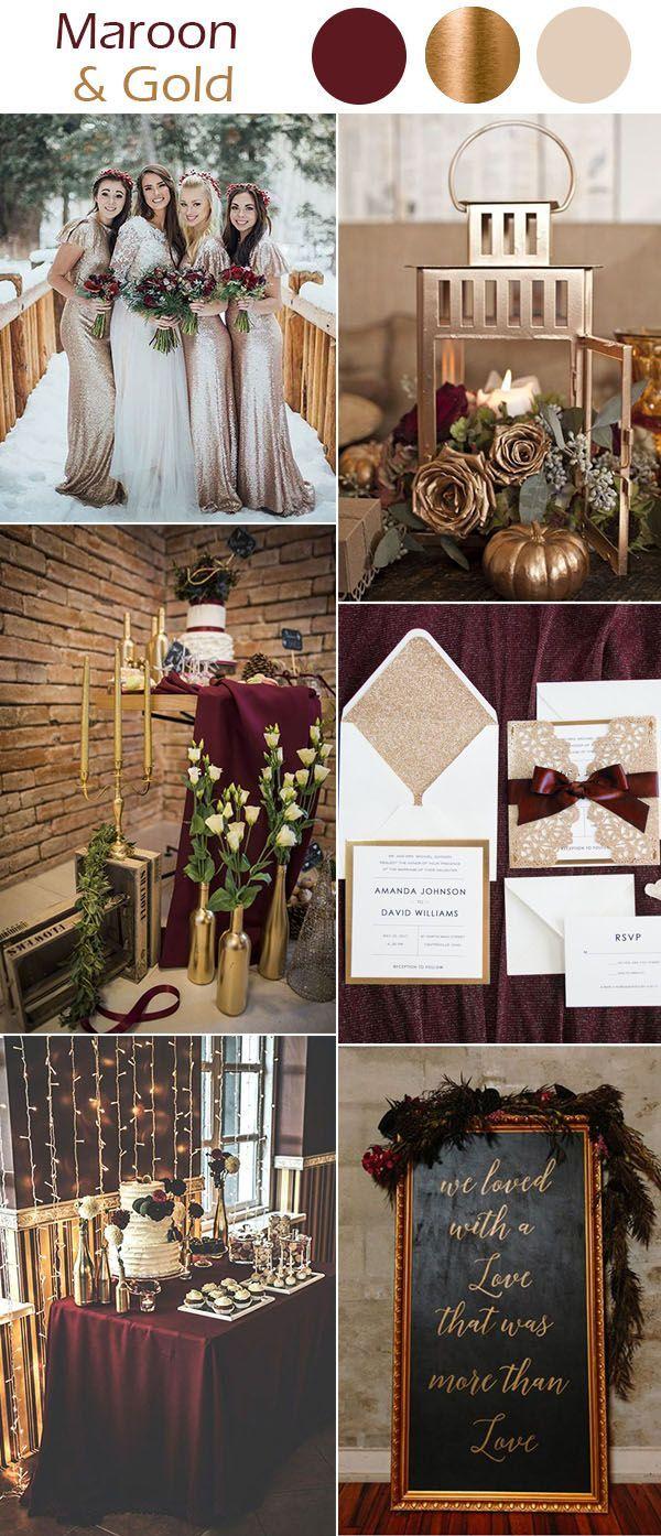 Die 10 besten Winterhochzeitsfarben zum Inspirieren   – Wedding dresses