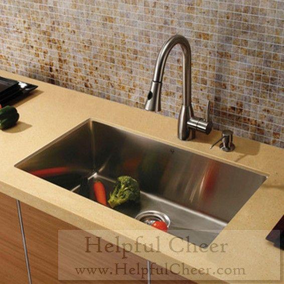 Vigo Undermount Stainless Steel Kitchen Sink Faucet Dispenser - at ...