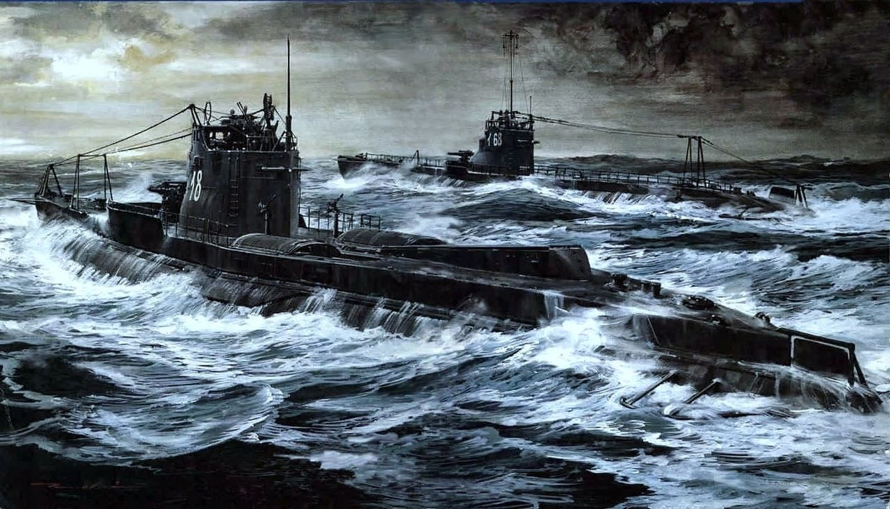 japanese submarines ww2 war art submarines imperial