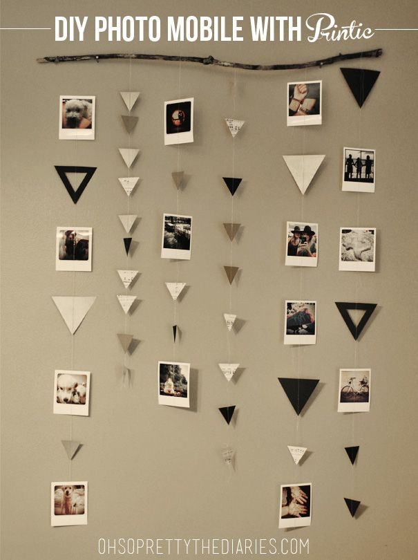 The Diy Photo Mobile With Printic Diy Ideen Fur Deine Fotos