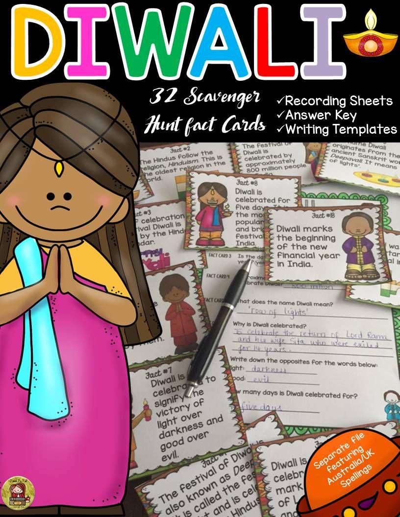 DIWALI DIWALI SCAVENGER HUNT HOLIDAYS Social studies