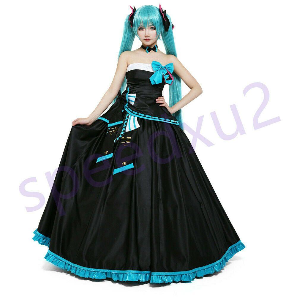 Miku Symphony 2017 Hatsune Miku Cosplay Costume Formal Dress Outfit Fancy Dress