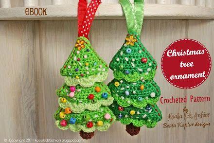 Alberi di Natale all'uncinetto