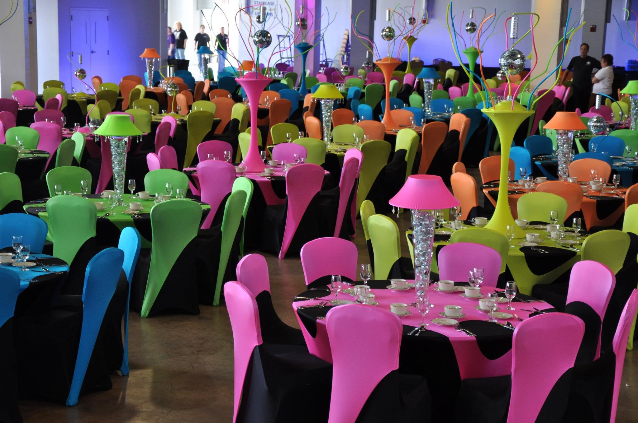 Stupendous Unique Neons Party Chairs Chair Covers Stretch Chair Covers Caraccident5 Cool Chair Designs And Ideas Caraccident5Info